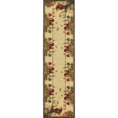 Andersonville Cream Area Rug Rug Size: Runner 27 x 10