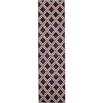 Moore Purple Area Rug Rug Size: Runner 27 x 10