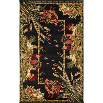 Andersonville Black Area Rug Rug Size: 33 x 53
