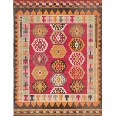 Phillips Red Area Rug Rug Size: 9 x 12