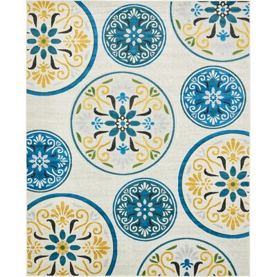 Janet Cream Indoor/Outdoor Area Rug Rug Size: 8 x 10