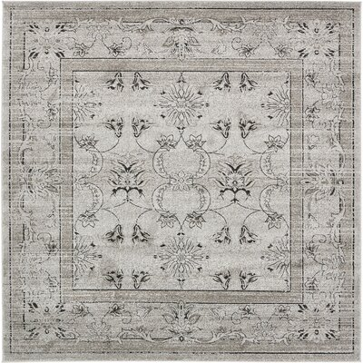 Irma Gray Area Rug Rug Size: Square 8