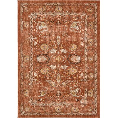 Geleen Brown Area Rug Rug Size: Rectangle 7 x 10