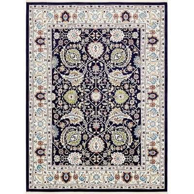 Courtright Navy Blue/Tan Area Rug Rug Size: Rectangle 13 x 198