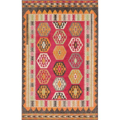 Phillips Red Area Rug Rug Size: 5 x 8