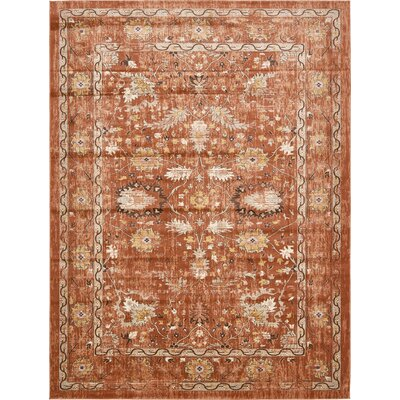 Geleen Brown Area Rug Rug Size: Rectangle 8 x 114