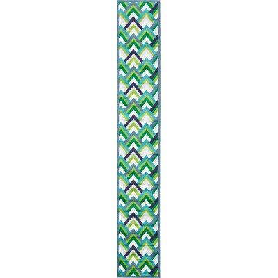 Sidney Blue Area Rug Rug Size: Runner 2 x 13