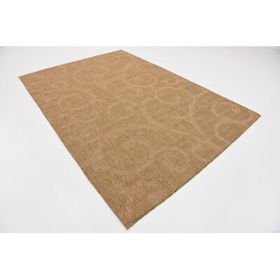 Kendari Brown Outdoor Area Rug Rug Size: Rectangle 6 x 9