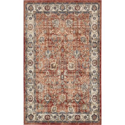 BallyS Terracotta Area Rug Rug Size: Rectangle 5 x 8