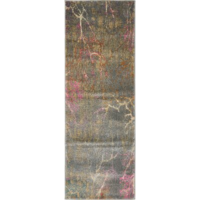 Essex Gray Area Rug Rug Size: Runner 27 x 10