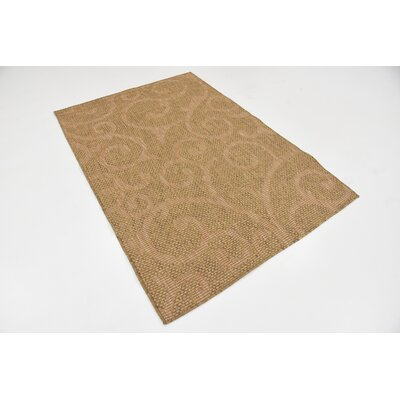 Kendari Brown Outdoor Area Rug Rug Size: Rectangle 4 x 6
