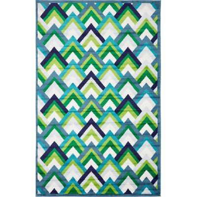 Sidney Blue Area Rug Rug Size: Rectangle 5 x 8