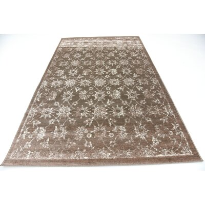 Geleen Brown Area Rug Rug Size: Rectangle 5 x 8