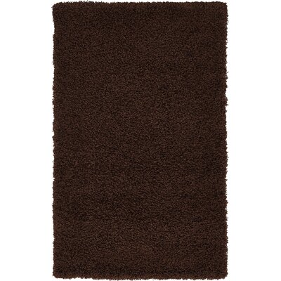 Chandler Solid Shag Brown Area Rug Rug Size: 33 x 53