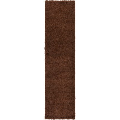 Chandler Brown Area Rug Rug Size: Runner 26 x 10