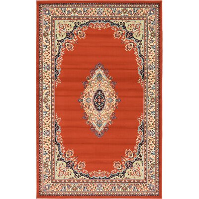 Astral Terracotta Area Rug Rug Size: 5 x 8