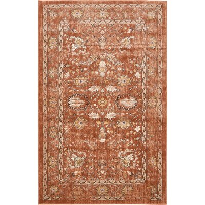Geleen Brown Area Rug Rug Size: 5 x 8