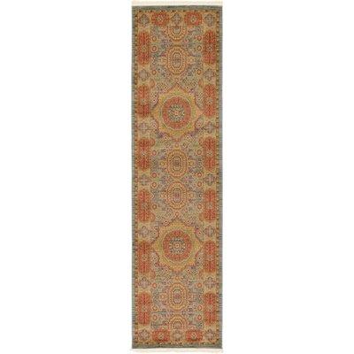 Laurelwood Red/Beige Area Rug Rug Size: Runner 27 x 10