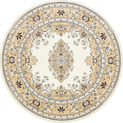 Courtright Cream/Ivory Area Rug Rug Size: Round 10