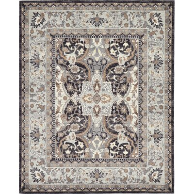 Sheppard Charcoal Area Rug Rug Size: 8 x 10