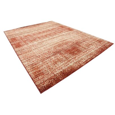 Hedwig Terracotta Area Rug Rug Size: Rectangle 9 x 12