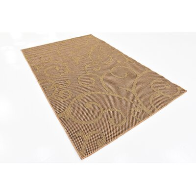 Milieu Light Brown Outdoor Area Rug Rug Size: 5 x 8