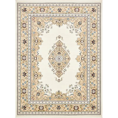 Courtright Cream/Ivory Area Rug Rug Size: 10 x 13