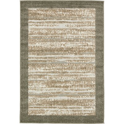 Loretta Brown Indoor/Outdoor Area Rug Rug Size: Rectangle 4 x 6