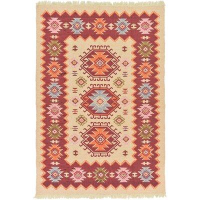 Izidora Cream Southwestern Area Rug Rug Size: 66 x 96