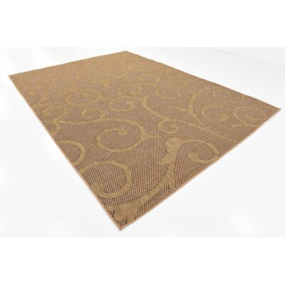 Milieu Light Brown Outdoor Area Rug Rug Size: Rectangle 8 x 114