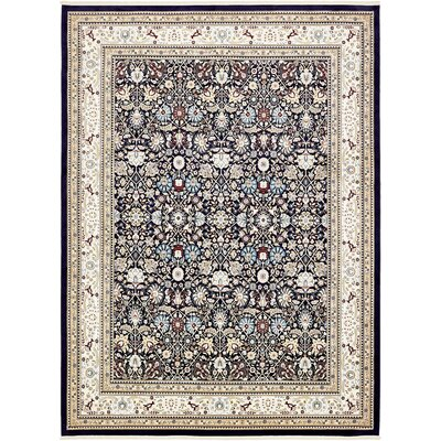 Courtright Navy Blue/Tan Area Rug Rug Size: Rectangle 5 x 8