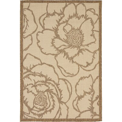 Souliere Beige Outdoor Area Rug Rug Size: Square 6