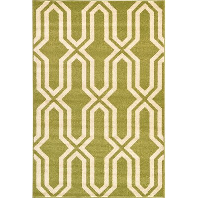 Marika Light Green Area Rug Rug Size: 4 x 6