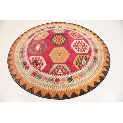 Phillips Red Area Rug Rug Size: Rectangle 5 x 8