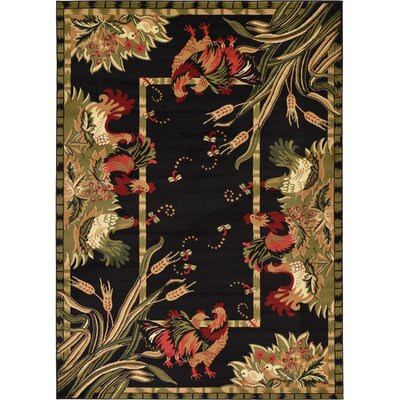 Andersonville Black Area Rug Rug Size: Rectangle 7 x 10