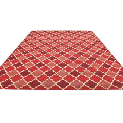 Alice Red Indoor/Outdoor Area Rug Rug Size: Rectangle 10 x 12