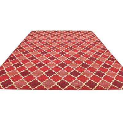 Alice Red Indoor/Outdoor Area Rug Rug Size: Rectangle 10 x 12