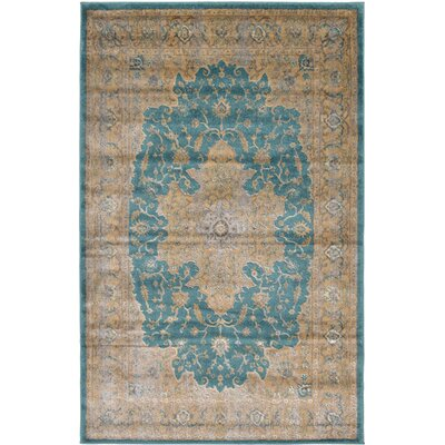 Essex Teal Area Rug Rug Size: Rectangle 4 x 6