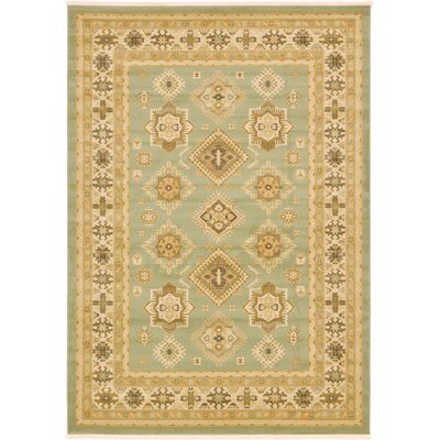 Jana Light Green Area Rug Rug Size: Round 8