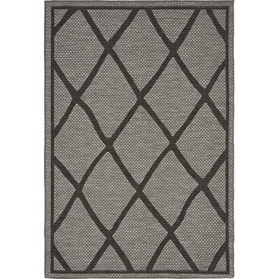 Bradley Gray Outdoor Area Rug Rug Size: 4 x 6