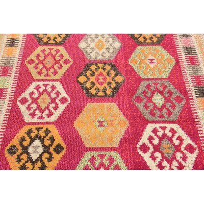 Phillips Red Area Rug Rug Size: 2 x 3