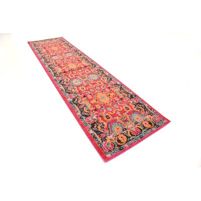 Nerbone Pink Area Rug Rug Size: Runner 27 x 10