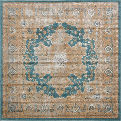 Essex Teal Area Rug Rug Size: Square 8