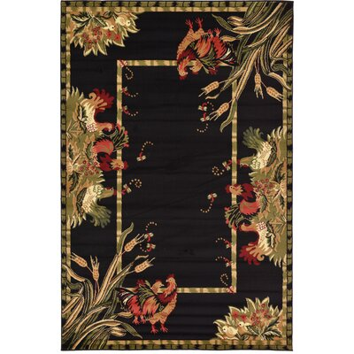 Andersonville Black Area Rug Rug Size: Rectangle 6 x 9