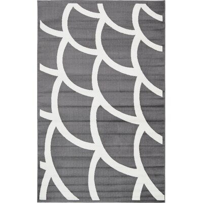 Sidney Gray Area Rug Rug Size: 5 x 8