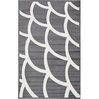 Sidney Gray Area Rug Rug Size: Rectangle 5 x 8