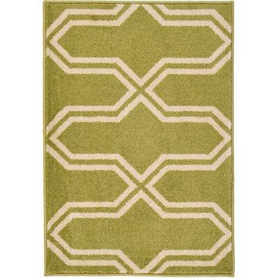 Marika Light Green Area Rug Rug Size: Rectangle 22 x 3