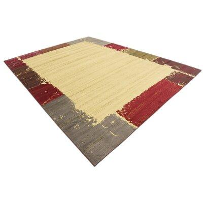 Jaidan Cream Area Rug Rug Size: Rectangle 9 x 12