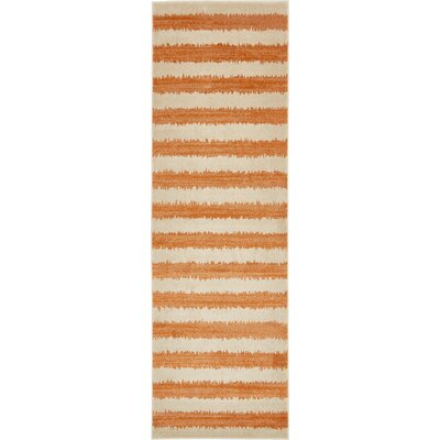 Travis Orange/Beige Area Rug Rug Size: Runner 3 x 10