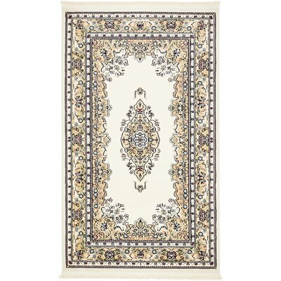 Courtright Cream/Ivory Area Rug Rug Size: 3 x 5